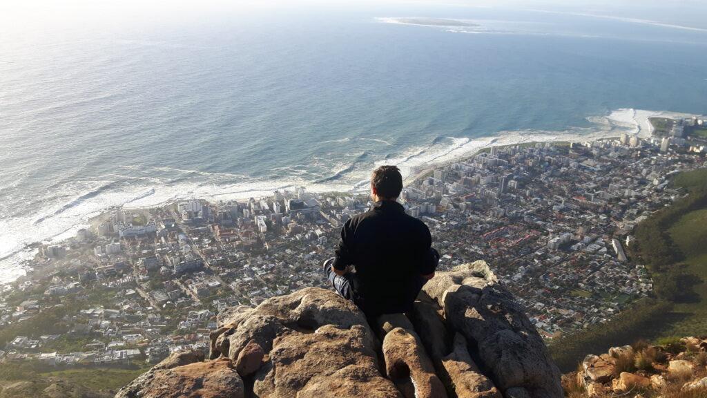 Vista dalla Lion's Head a Cape Town in Sud Africa