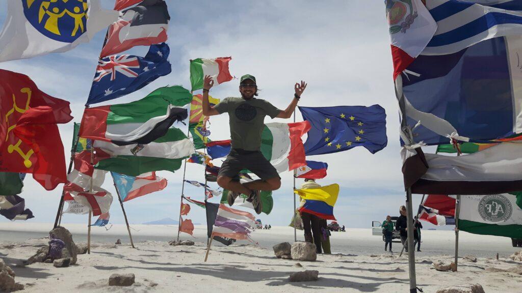 Una foto durante il viaggio in sud America - Salar de Uyuni