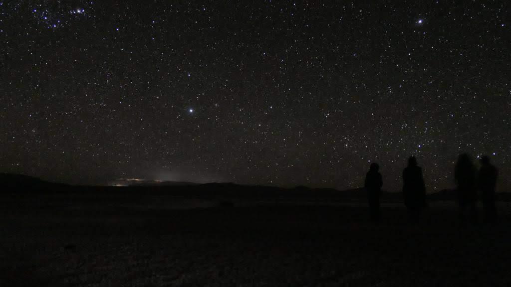 Il cielo stellato sopra i 4000 metri è favoloso