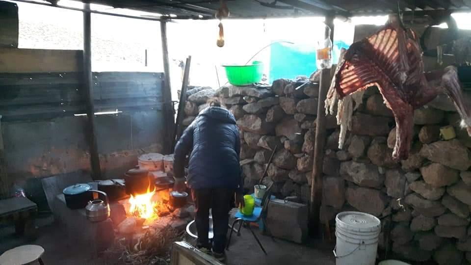 La cucina della famiglia di allevatori che mi ha ospitato