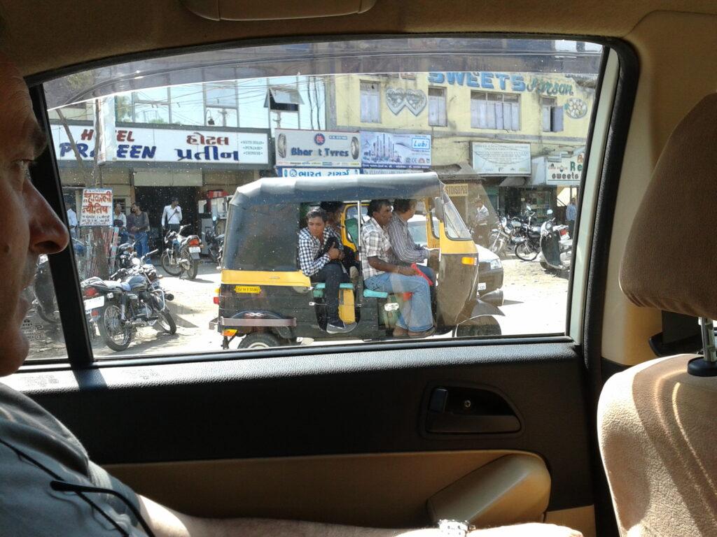 Il tipico rickshaw in India