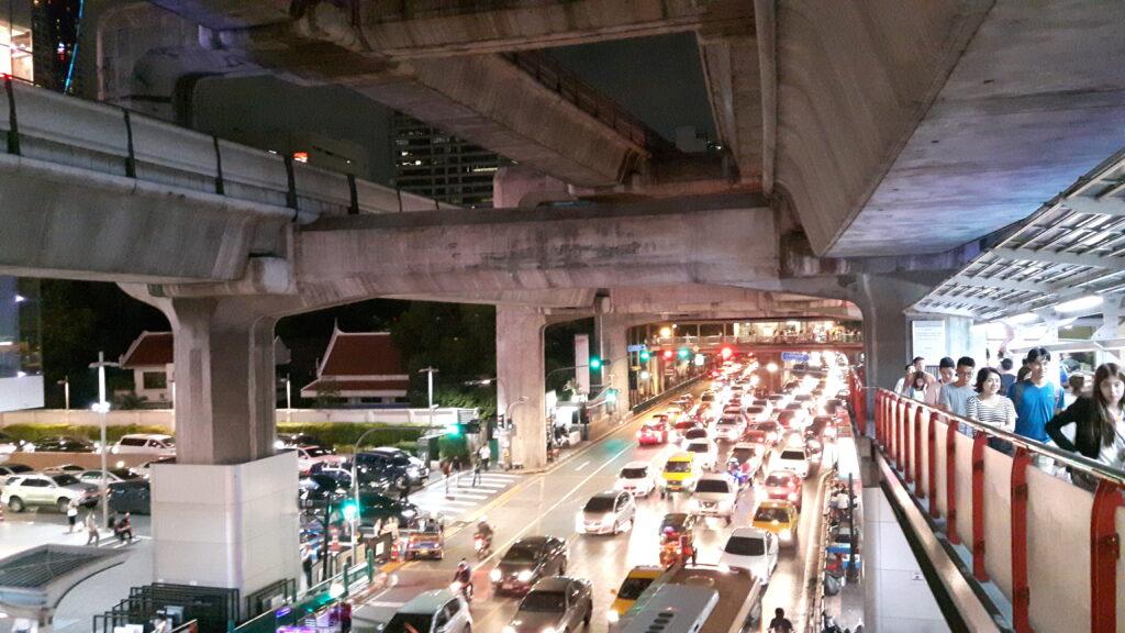Traffico nella città di Bangkok