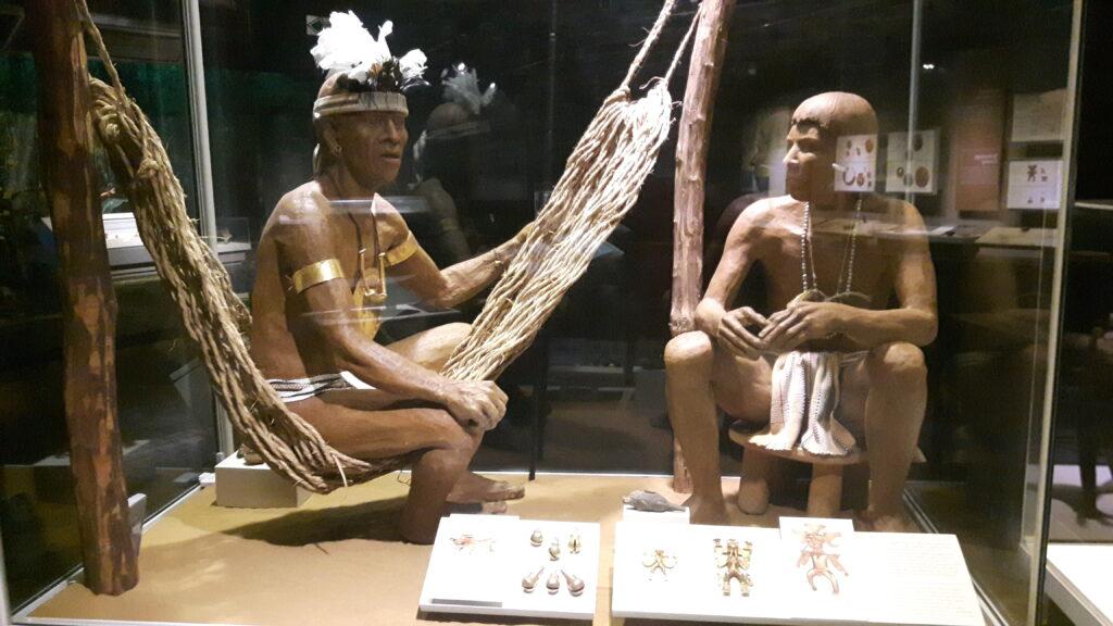 Rappresentazione nel museo dell'oro precolombiano