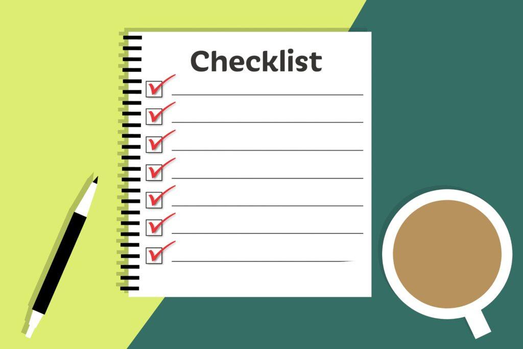 Preparate sempre una lista prima di viaggiare